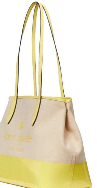 kate-spade-canvasleather-zip-beigeyellow-canvasleather-tote-1-2-650-650